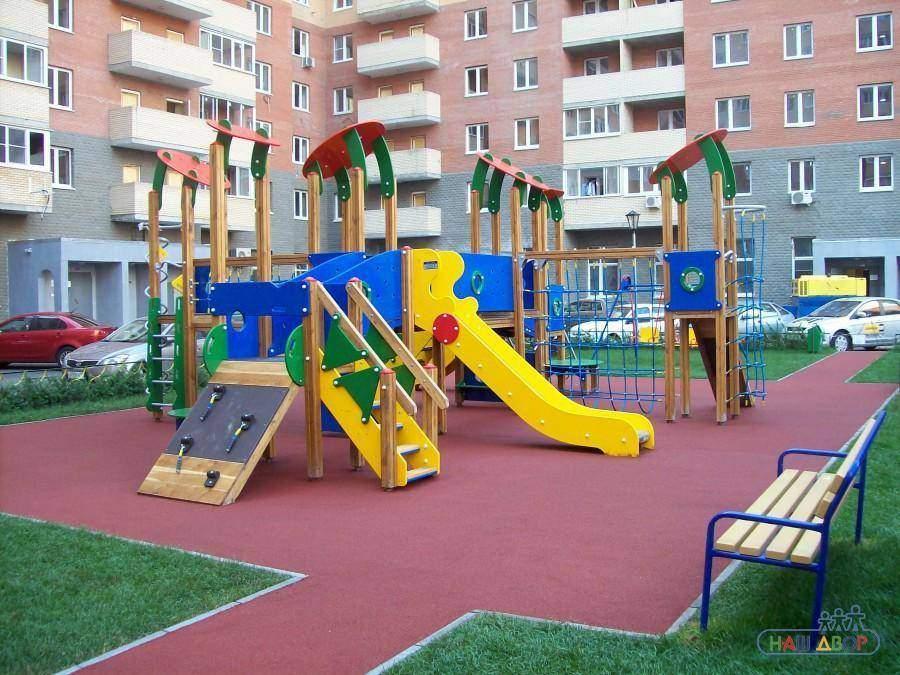 строительство детских площадок во дворах